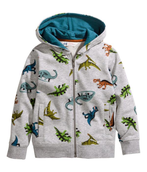 Patterned Hooded Jacket