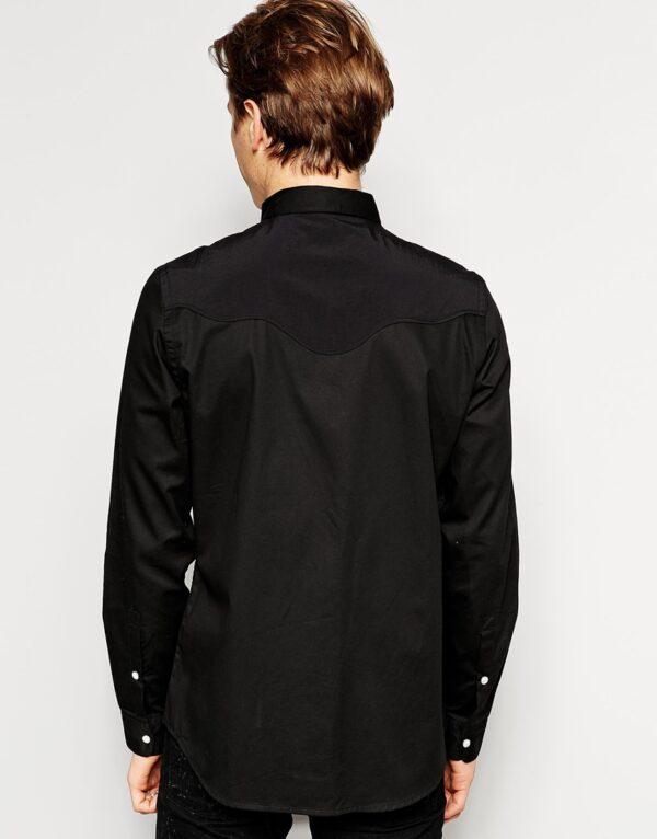Mens Luxury Black Shirt
